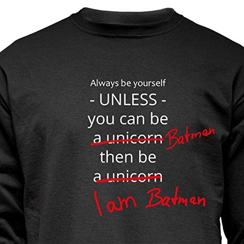 """Nukular Langarm T-Shirt """"...be a unicorn / batman"""", warum sollte man ein Einhorn sein wollen?!..."""