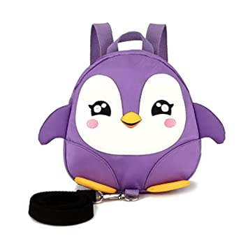 JAGENIE Mini Mochila para niños Anti-Lost Cartoon Penguin Arnés de ...
