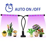 18W Plant Grow Light with Auto Turn ON/Off Function,36 LED 5 Dimmable Levels Plant Grow Lamp Bulbs for Indoor Plants with Red/Blue Spectrum, 3/6/9/12/15H Timer, 3 Switch Modes, Adjustable Gooseneck
