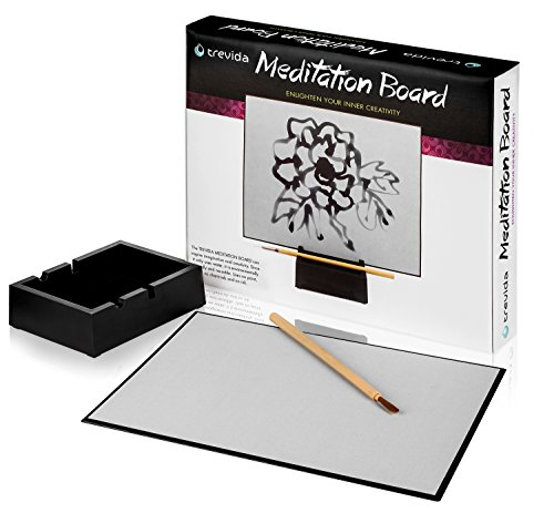 Trevida Premium Meditation Board: Soothing Water Drawing Buddha Board for Relaxation and Personal Reflection ()