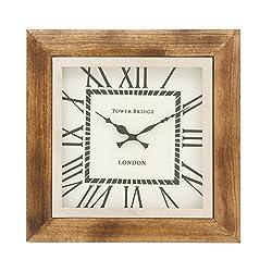 Deco 79 40671 Trendy Wood Wall Clock, 16 W x 16 H