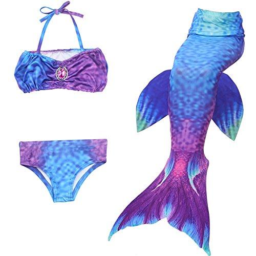 Kakawayi Girl's Mermaid Tail Swimsuit Bathingsuit Sea-maid Bikini£¨no monofin) by Kakawayi