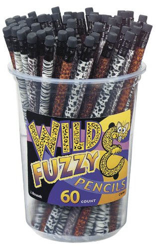 Wild & Fuzzy Velvet Pencil, Packge of 60 -