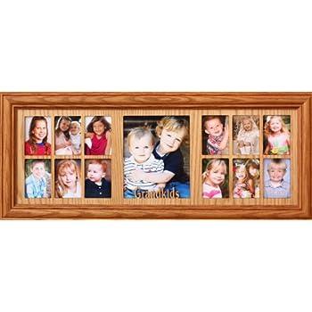 Amazon.com - 7x20 ~ GRANDKIDS Oak Collage Picture Frame ~ Gift for ...