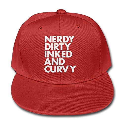 JSWALA-Unisex-Kids-Nerdy-Dirty-Inked-And-Curvy-Solid-Baseball-Caps-Snapback-Hats