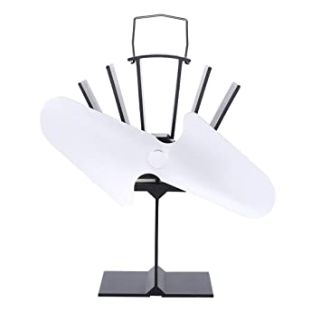 Estufa de leña de 2 cuchillas, potencia de calor, ventilador ecológico, hogar,