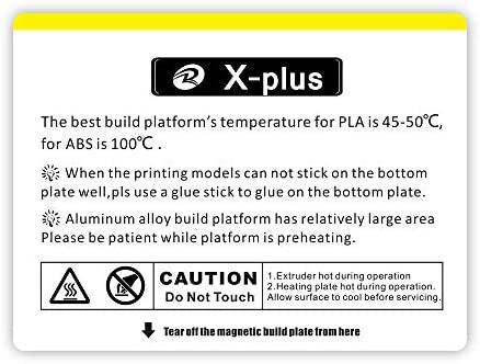 Pegatina para cama para la impresora QIDI TECH X Plus 3D: 1 unidad ...