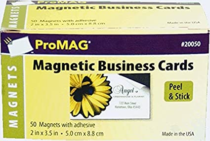 Amazon promag 2 x 3 12 inches adhesive business card magnets promag 2 x 3 12 inches adhesive business card magnets colourmoves Gallery