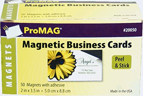- ProMAG 2 x 3-1/2 Inches Adhesive Business Card Magnets