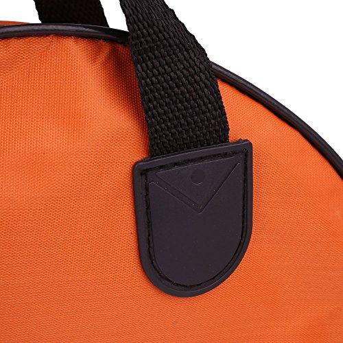 Beautyrain 1 Stück Fischschutzpaket Doppelschicht Segeltuch Tasche Angelzubehör Werkzeughalter Schutzhülle Geschenk 44cm & Orange
