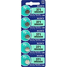 Sony Watch Battery Button Cell SONY SR920SW, LR69, LR921, LR920, 371, AG6, SR69, (Pack of 5)