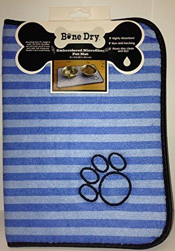 Bone Dry Embroidered Microfiber Pet Mat (Blue/Light