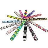 ilios innova Paquete con 50 Limas para Uñas Grande Diferentes Estampados Coloridos