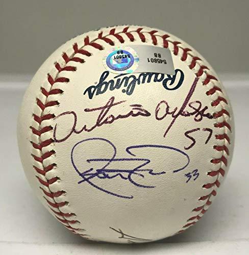 2007 Phillies Stars 3x Signed Baseball Alfonseca Rowand Nunez MLB AUTH JSA LOA - Autographed Baseballs