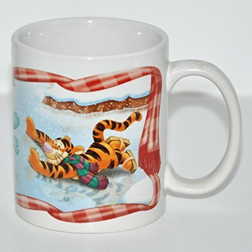 Pooh Christmas Mug Winnie the Pooh Eeyore Ice Skating Cup Tigger