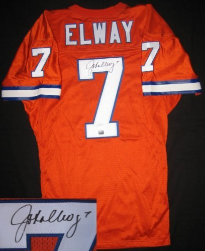low priced e48f5 99658 John Elway Signed Orange Crush Jersey at Amazon's Sports ...