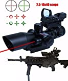 Best Sights With Weaver Picatinnies - Rifle Scope 3 in 1 2.5-10x40 Tactical Red Review