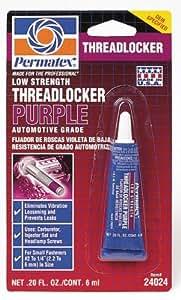 Permatex 24024 Low Strength Threadlocker Purple, 6 ml Tube