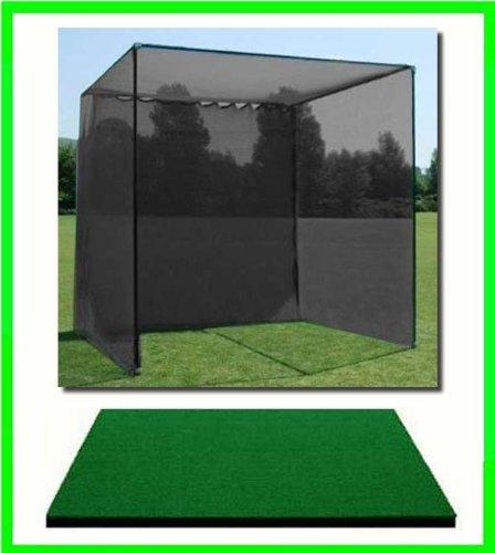 ゴルフマット、ゴルフネットケージ、10 ' x10 ' x10ゴルフネットゴルフケージと4 ' x4 ' Commercialゴルフマット。Our dura-pro 10 ' ( H ) x10 ' ( D ) X 10 ( W )ゴルフケージゴルフNet Comes with High Velocity Strong Impactゴルフネッティングand a High Impact Double Back停止してターゲットPlusに4 ' x 4 ' Commercialゴルフマットフリーボールトレイ/ボール/ティー/ 60分。フルスイングトレーニングDVD / Impactデカール&補正ガイドが付きます。 B00GXJVNC6