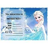 disney frozen party invitations envelopes personalised amazon