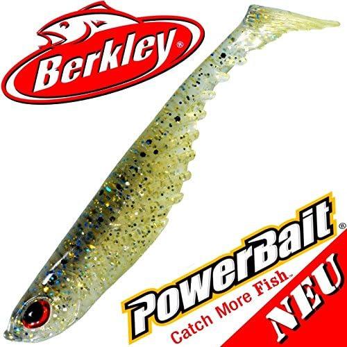 "5/"" soft bait ripple shad gold 3 pieces Berkley power bait 13 cm 2016 blue shiner"