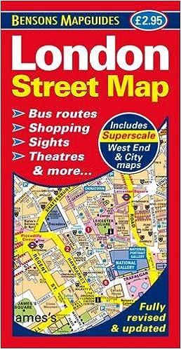 london street map bensons mapguides 9781898929482 amazoncom books