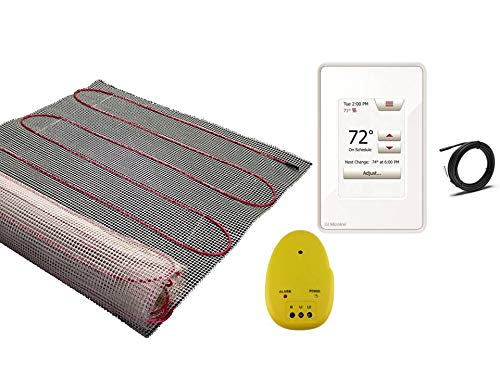 ems 120 V Electric Tile Radiant Floor Heating Mat with Touch Screen Programmable Thermostat ()