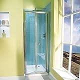 Bifold Shower Door 760 Glass 6mm Alcove Folding Screen Enclosure