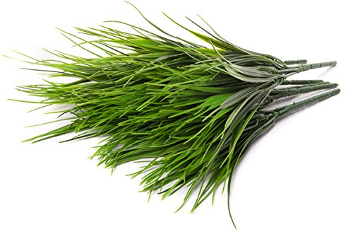 (Faux Wheat Grass Pick - 6 Pieces Bundle - 11 Inches for Floral Arrangements, Wedding, Home Decor)