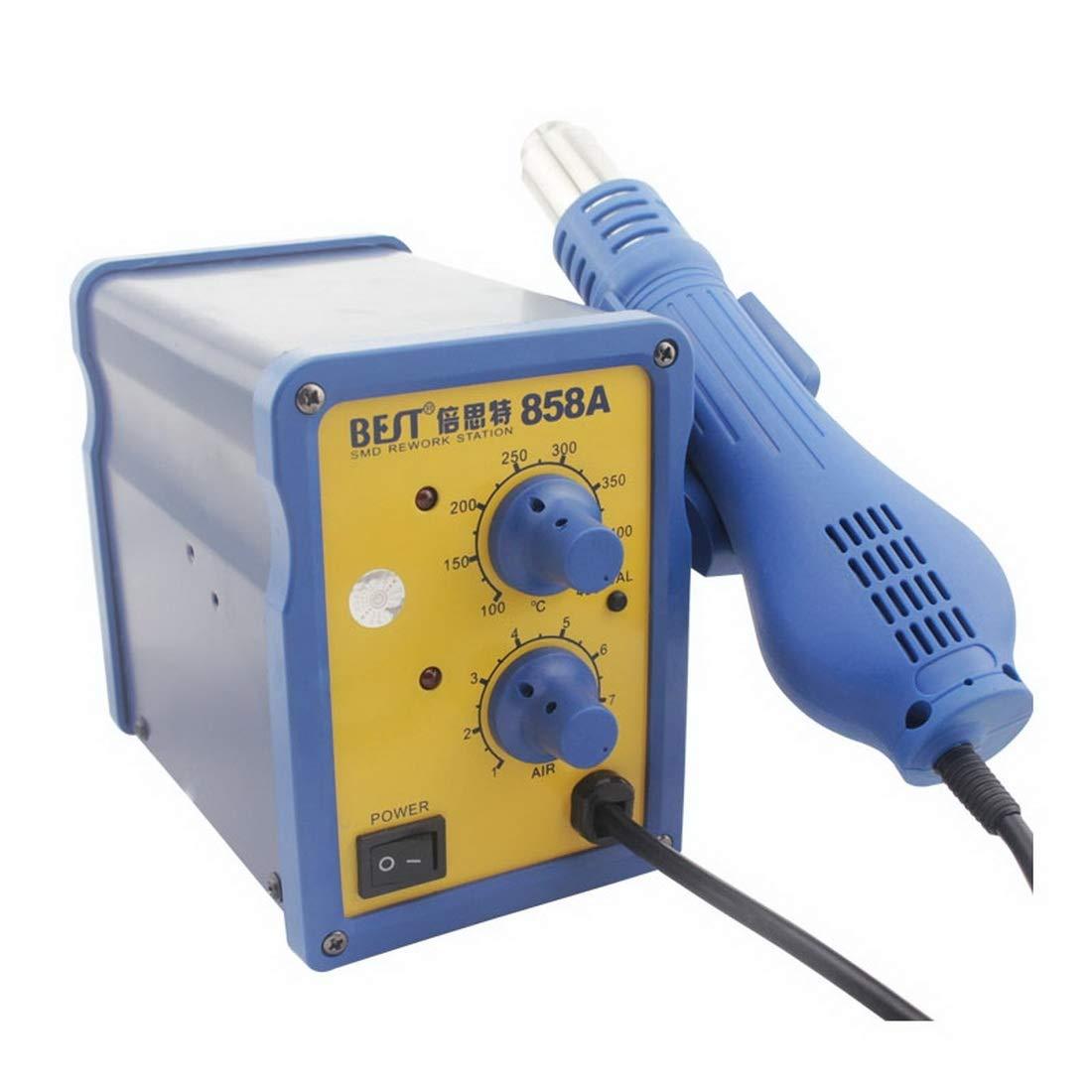 Toos Accessory BST-858A AC 220V 50Hz 650W Adjustable Temperature Unleaded Hot Air Gun with Helical Wind, EU Plug Hand Tools (Color : S-etp-0241a)