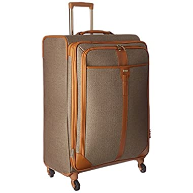 Hartmann Herringbone Luxe Softside Long Journey Expandable Spinner, Terracotta Herringbone, One Size