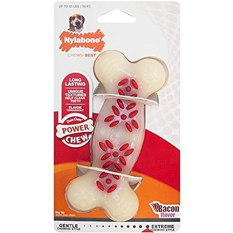 Nylabone Dura Chew Wolf Bacon Flavored Bone Dog Chew Toy - Dura Chew Plus Bone