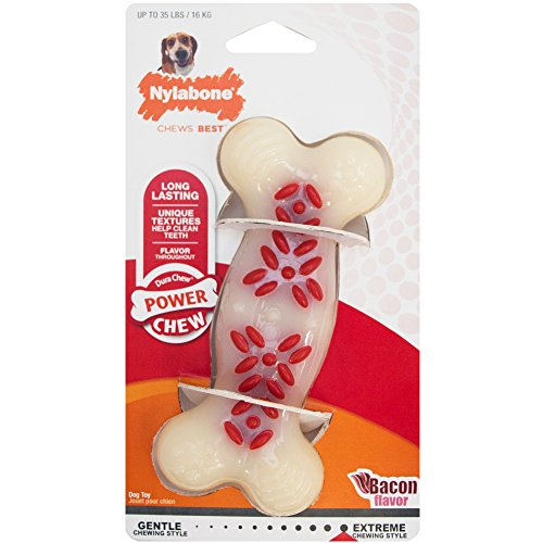 Nylabone Dura Chew Wolf Bacon Flavored Bone Dog Chew Toy