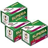 Fuji Superia 200 - Carrete fotográfico (36 fotos, 3 unidades)