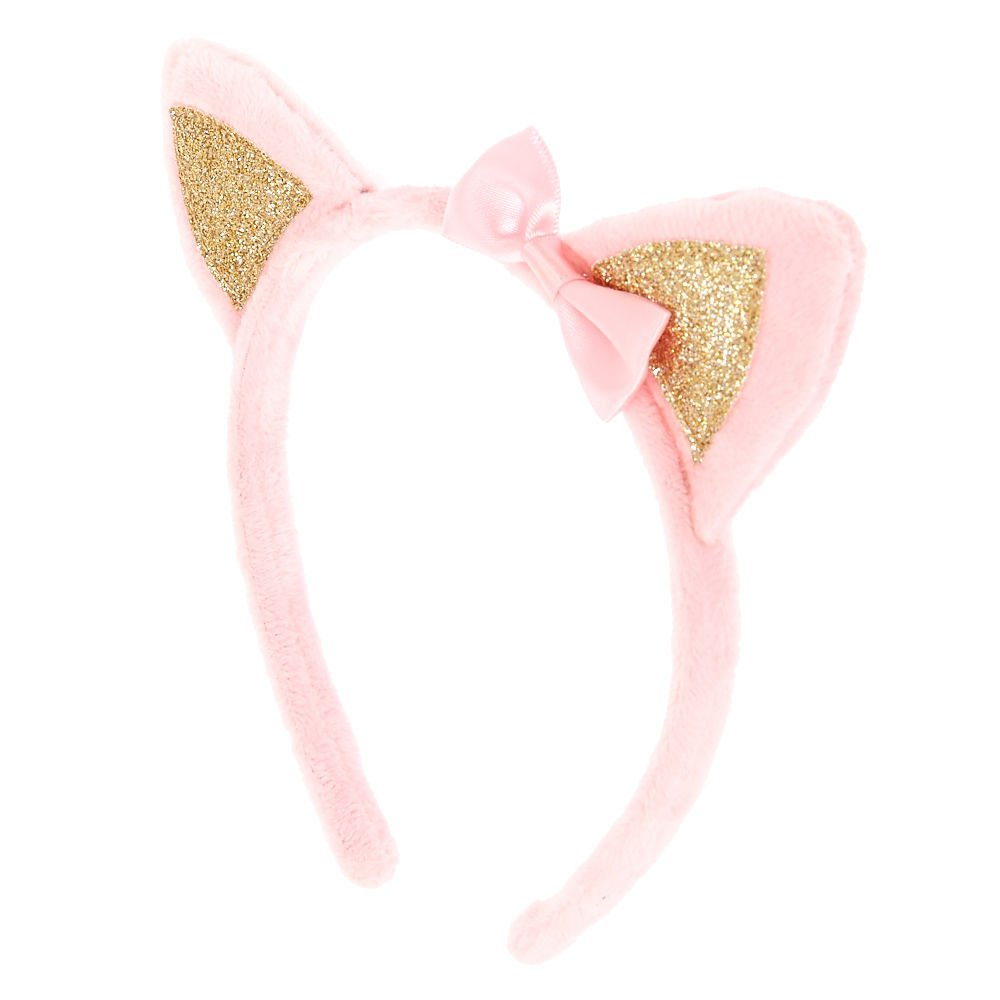 Claire's Girl's Kids Pink Soft Cat Ear Head Band Gold/Pink. Claire' s