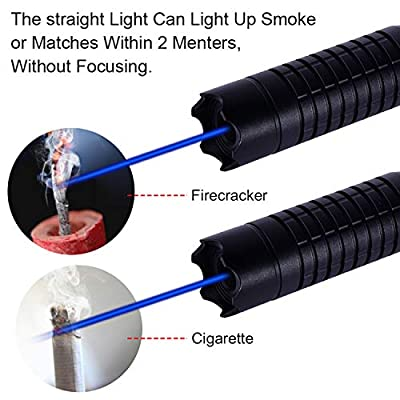 Loyalfire Blue Light Pointer, High Power Tactical Teaching Pen Flashlight with 5 Patterns for Hunting Hiking Outdoor