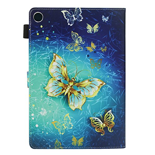 Flip Bookstyle Inch and Skull 10 8 MediaPad Pattern Cover Case Foldable of for Closure Leather Holster Stent Huawei Slot Co LMFULM® PU Leather Leather Case M5 Ultrathin Magnetic Card 20 Color Function Flower gRCT0x