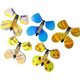 Meeruz 5-Pcs Magic Butterfly Flying in the Book Fairy Rubber Band Powered Wind Up Butterfly Toy Great Surprise for Wedding And Birthday Gifts