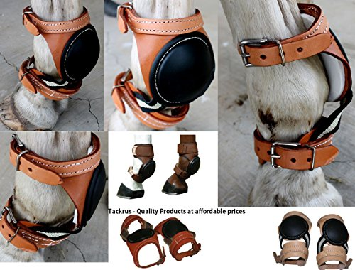 Amish Horse Equine Leather Sports Medicine Skid Boots Made in USA Tack 4123 by Amish (Image #1)