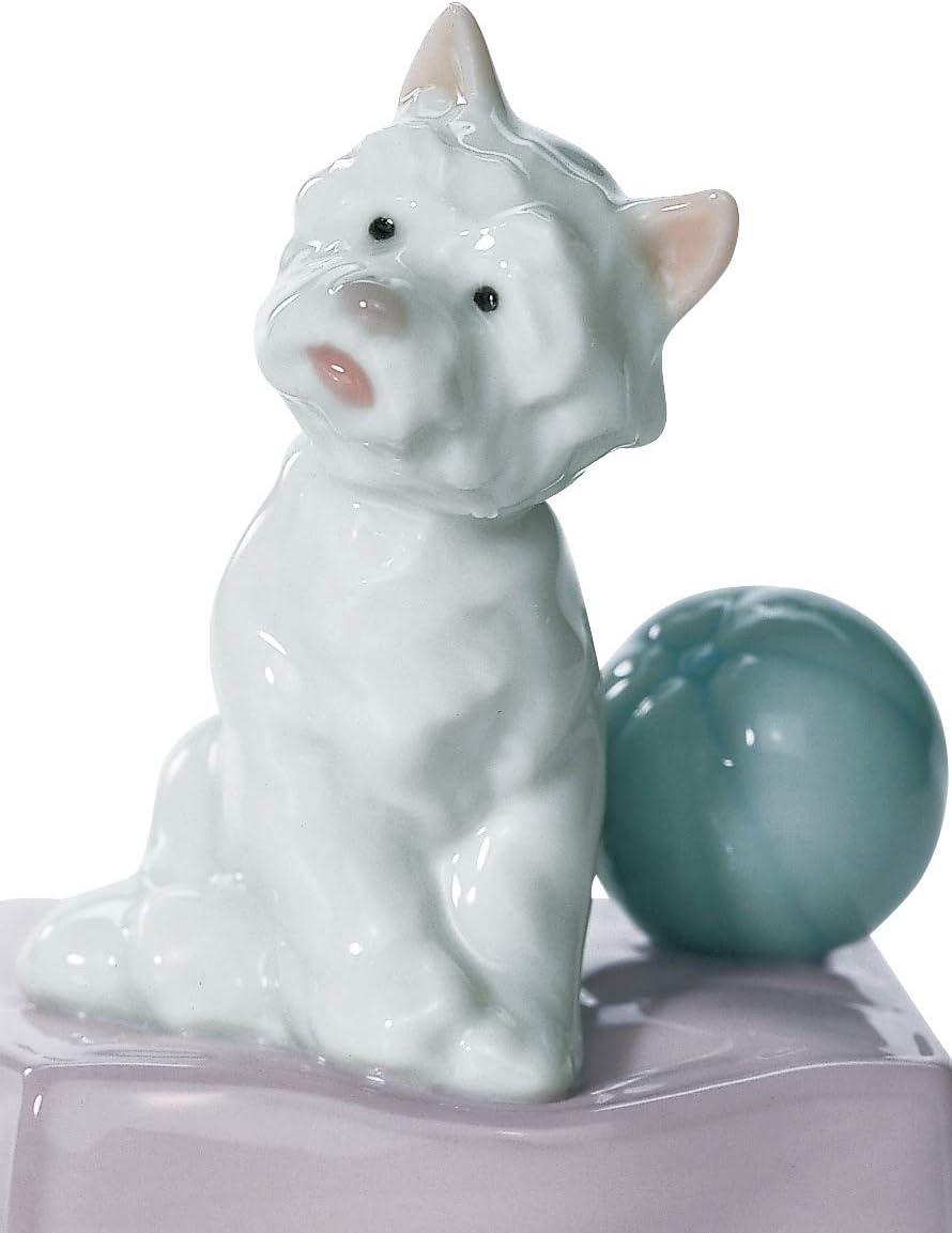 LLADR My Favorite Companion Dog Figurine. Porcelain Puppy Figure.