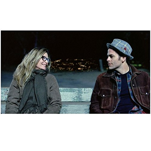 People Like Us (2012) 8 inch x10 Inch Michelle Pfeiffer & Chris Pine Seated on Bench kn