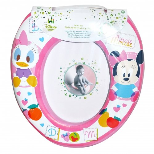 Disney Minnie Mouse 'Pink' Kids Padded Toilet Seat Soft Potty Training Bath