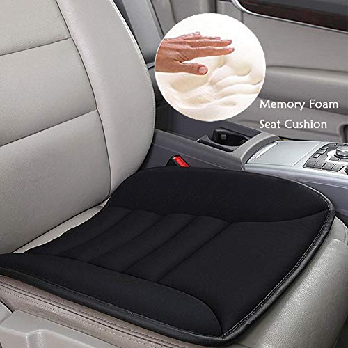Car Seat Cushion - Big Ant Car Seat Cushion Pad Memory Foam Seat Cushion,Pain Relief Memory Foam Cushion Comfort Seat Protector Perfect for Car Office Home Use,Black(1PC)