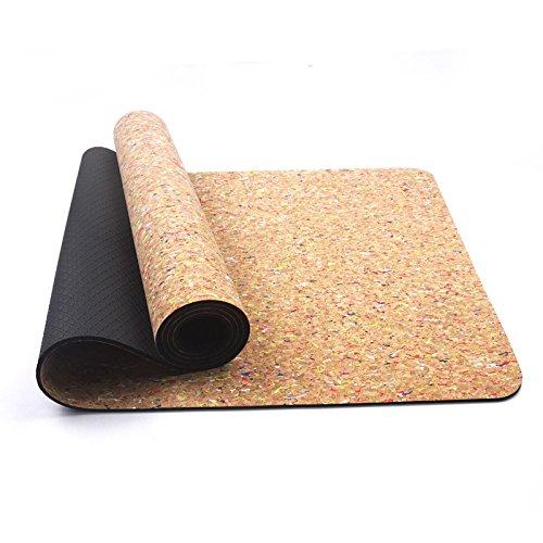 Yoga Mat Cork6mm Respetuoso del Medio Ambiente Tasty Gym Mat ...