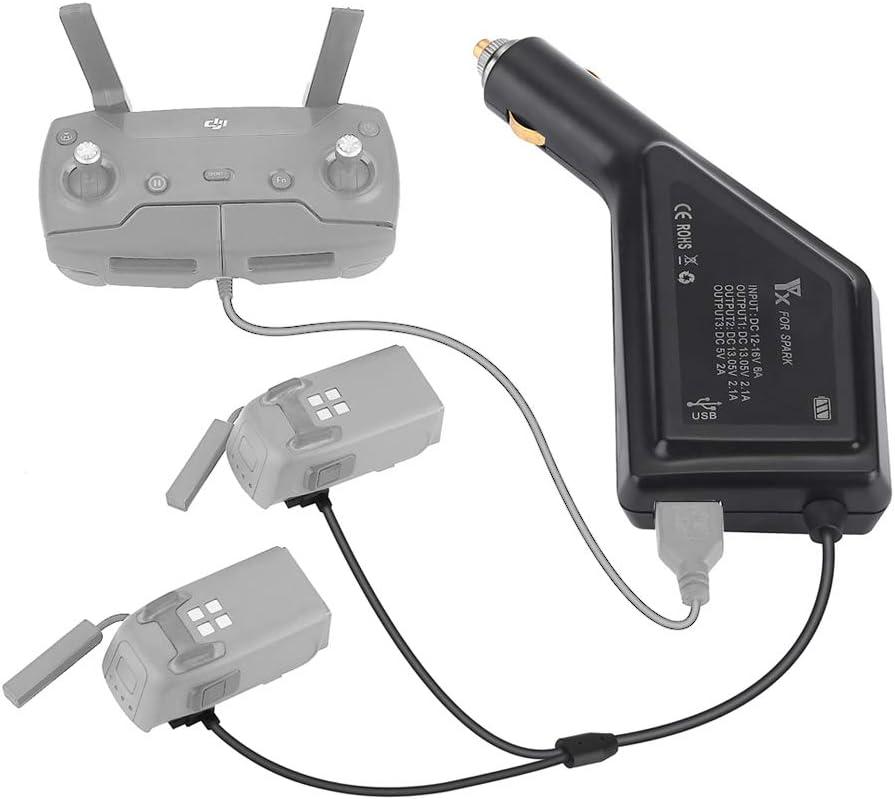 Cargador Para Auto DJI Spark Drone (1 x USB + 2 x Battery)