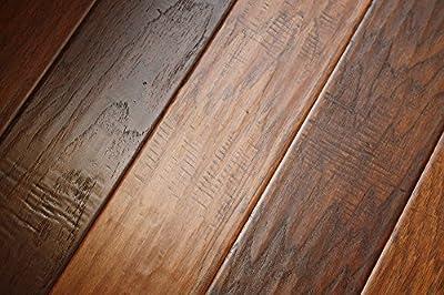 Elk Mountain Hickory Old Bronze 5 x 3/8 Hand Scraped Engineered Hardwood Flooring FH229 SAMPLE