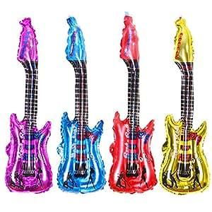 OUTANG Juego de Juguetes de Guitarra Inflable 4 Colores Disfraces ...