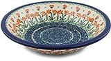 Polish Pottery Pasta Bowl 8-inch made by Ceramika Artystyczna (Peach Spring Daisy)
