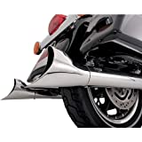 Vance & Hines End Cap Exhaust Fishtail II Chrome for Harley