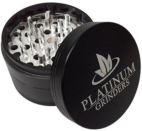 Platinum Grinders Herb Grinder with Pollen Catcher - Large 2.5 Inch 4 Piece, Black Aluminum by Platinum Grinders (Image #2)